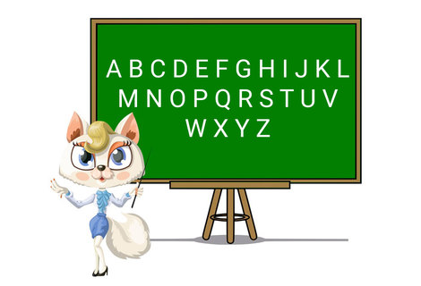 Teacher alphabet banner