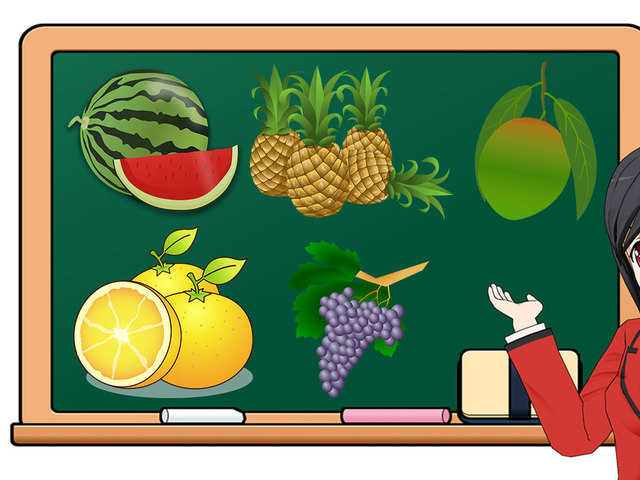 Teacher fruit banner